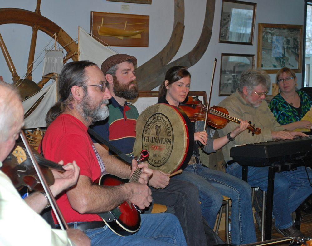 Musicians playing at New Years Levee